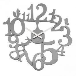Zegar ścienny plastikowy KOZIOL PI SZARY 45 cm