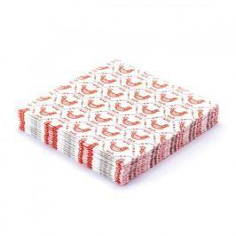 Serwetki papierowe dekoracyjne PAW GEOMETRIC HENS BIAŁE 20 szt.
