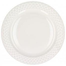Talerz obiadowy płytki porcelanowy AFFEK DESIGN DIAMOND BIAŁY 27 cm