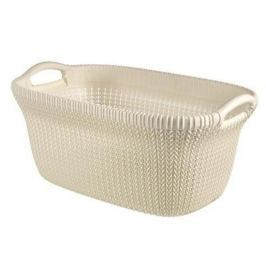 Brudownik / Kosz na pranie i bieliznę plastikowy CURVER KNIT KREMOWY 40 l