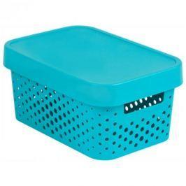 Koszyk z pokrywką ażurowy plastikowy CURVER INFINITY TURKUSOWY 4,5 l