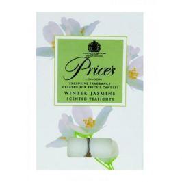 Świeczki zapachowe tealihgt woskowe PRICE'S CANDLES WINTER JASMINE BIAŁE 6 szt.