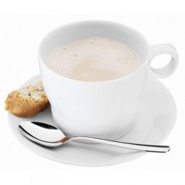 Filiżanka do kawy i herbaty ceramiczna ze spodkiem WMF BARISTA BIAŁA 225 ml