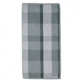 Ręcznik łazienkowy bawełniany KELA LADESSA KRATKA SZARY 50 x 100 cm