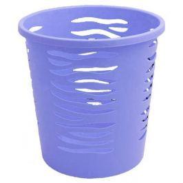 Plastikowy kosz na śmieci BRANQ ZEBRA NIEBIESKI 10 l