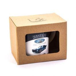 Kubek ceramiczny z nadrukiem DUO RETRO CAR FORD MUSTANG BIAŁY 400 ml