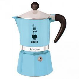 Kawiarka aluminiowa ciśnieniowa BIALETTI RAINBOW BŁĘKITNA - kafetiera na 6 filiżanek espresso