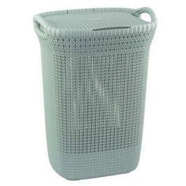 Brudownik / Kosz na pranie i bieliznę plastikowy CURVER KNIT WYSOKI NIEBIESKI 57 l