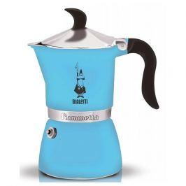 Kawiarka aluminiowa ciśnieniowa BIALETTI FIAMMETTA BŁĘKITNA - kafetiera na 1 filiżankę espresso