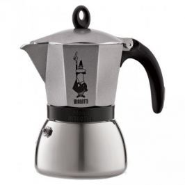 Kawiarka aluminiowa ciśnieniowa BIALETTI MOKA INDUCTION SZARA - kafetiera na 3 filiżanki espresso