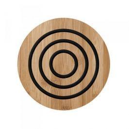 Podkładka pod garnek drewniana LADELLE CLASSIC OKRĄGŁA CZARNA 20 cm