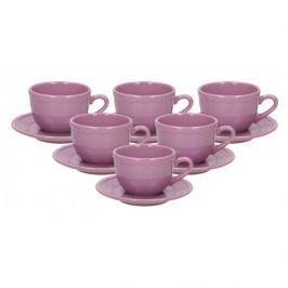Serwis kawowy ceramiczny AFFEK DESIGN PASTELS FIOLETOWY na 6 osób (12 el.)