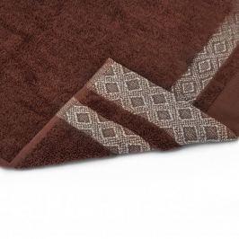 Ręcznik łazienkowy do rąk bawełniany MISS LUCY KUBA BRĄZOWY 30 x 50 cm