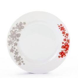 Talerz deserowy porcelanowy CHODZIEŻ NINA PRATO BIAŁY 19 cm