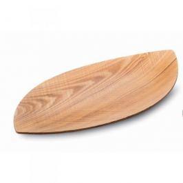 Taca drewniana LEGNOART CHIA BRĄZOWA 44,5 x 25 cm
