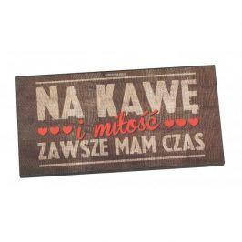 Tabliczka z napisem dekoracyjna drewniana PAN DRAGON KAWA I MIŁOŚĆ