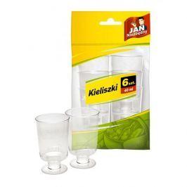 Kieliszki do wódki plastikowe JAN NIEZBĘDNY 40 ml 6 szt.