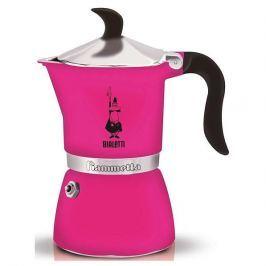 Kawiarka aluminiowa ciśnieniowa BIALETTI FIAMMETTA RÓŻOWA - kafetiera na 1 filiżankę espresso