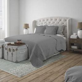 Narzuta na łóżko z 2 poszewkami na poduszkę bawełniana  MISS LUCY MARSYLIA SZARA 160 x 210 cm