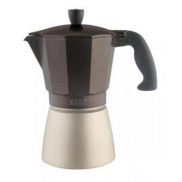Kawiarka aluminiowa ciśnieniowa ZEST FOR LIFE MACHO BRĄZOWA - kafetiera na 6 filiżanek espresso