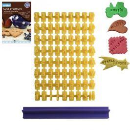 Szablon do dekoracji ciast plastikowy ORION LITERKI ŻÓŁTY 12 x 18 cm