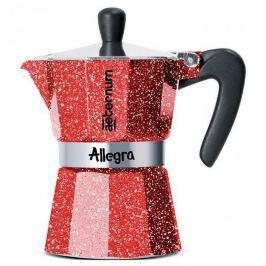 Kawiarka aluminiowa ciśnieniowa BIALETTI AETERNUM ALLEGRA RUBINO CZERWONA - kafetiera na 3 filiżanki espresso