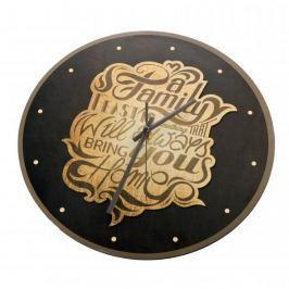 Zegar ścienny plastikowy FLORINA FAMILY HOME CZARNY 31 cm