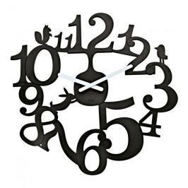 Zegar ścienny plastikowy KOZIOL PI CZARNY 45 cm
