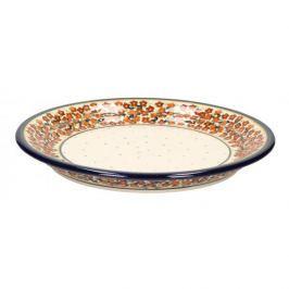 Ceramiczny talerz płytki GU-1259 DEK. DU52 Bolesławiec 25 cm