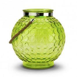 Lampion ozdobny szklany DUO DOT ZIELONY 26 x 28,5 cm