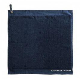 Ręcznik kuchenny bawełniany LAURA ASHLEY TERRY JEANS GRANATOWY 50 X 50 cm