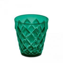 Szklanka do napojów plastikowa KOZIOL CRYSTAL S CIEMNOZIELONA 200 ml