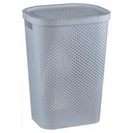 Brudownik / Kosz na pranie i bieliznę plastikowy CURVER INFINITY WYSOKI SZARY 59 l