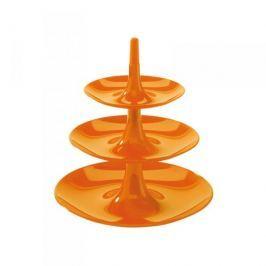 Patera stała na ciasto plastikowa KOZIOL BABELL XS POMARAŃCZOWA 20 cm - stojak na owoce