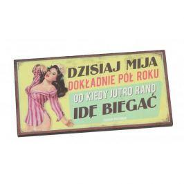 Tabliczka z napisem dekoracyjna drewniana PAN DRAGON IDĘ BIEGAĆ