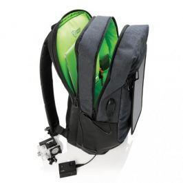 Plecak z panelem solarnym poliestrowy XDDESIGN SWISS PEAK INTER CZARNY