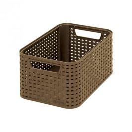 Koszyk plastikowy CURVER STYLE S JASNY BRĄZOWY