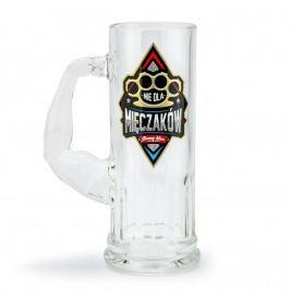 Kufel do piwa szklany NIE DLA MIĘCZAKÓW 500 ml