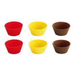 Foremki do pieczenia muffinek i babeczek silikonowe mini TESCOMA DELICIA WIELOKOLOROWE 6 szt.