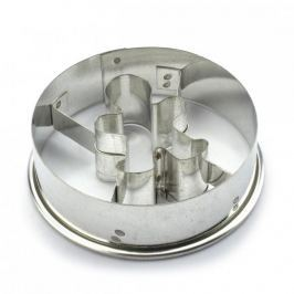 Foremka / Wykrawacz do ciastek i pierników metalowy KOŁO Z LUDZIKIEM 5,5 cm