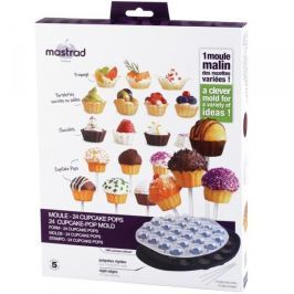 Forma do pieczenia 24 lizaków cake pops silikonowa MASTRAD SZARA