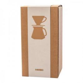 Dripper do kawy z dzbankiem szklanym HARIO DRIPPER AND POT RED V60