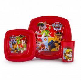 Naczynia dla dzieci plastikowe PSI PATROL CZERWONE 3 szt.