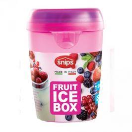 Pojemnik na jogurt i owoce z wkładem chłodzącym i łyżeczką plastikowy SNIPS BOX RÓŻOWY