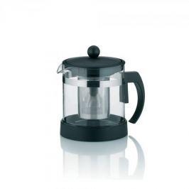Dzbanek do herbaty szklany z zaparzaczem KELA AURON CZARNY 1 l