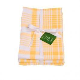 Komplet 3 ręczników kuchennych bawełnianych NOW DESIGNS JUMBO ŻÓŁTE