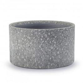 Osłonka na doniczkę porcelanowa VEMI PROTECT SZARA 15 cm