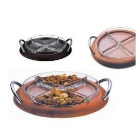 Deska do serwowania serów i przekąsek drewniana BUGATTI LOLA BRĄZOWA 32 cm
