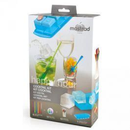 Forma do kostek lodu z pokrywką i akcesoriami plastikowa MASTRAD MEET WIELOKOLOROWA