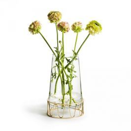Wazon na kwiaty szklany SAGAFORM WINTER 28 cm